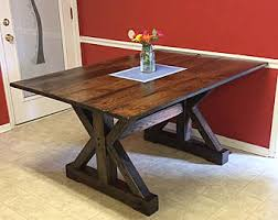 Trestle Table Etsy - Trestle kitchen tables