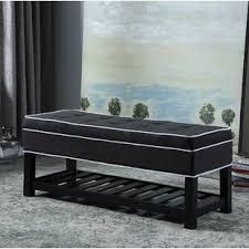shoe storage ottoman bench wayfair