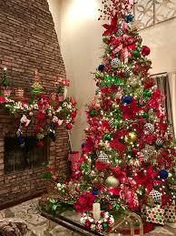 green and red christmas tree christmas tree nordmann fir