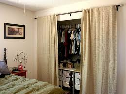 bedroom closet door curtains