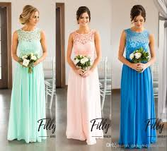 bridesmaid dresses online country style bridesmaid dresses 2018 new mint a line chiffon lace