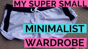 my entire wardrobe minimalist version youtube
