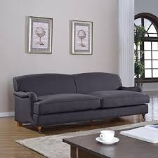 overstuffed sofa amazon com