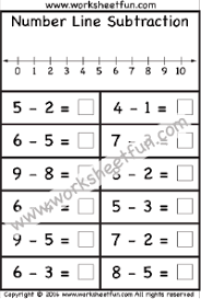 subtraction u2013 number line free printable worksheets u2013 worksheetfun