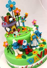 way cool smurf cake top smurfs cakes birthday party boys