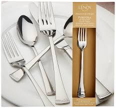How To Set Silverware On Table Amazon Com Lenox Portola 65 Piece Flatware Set Flatware Sets