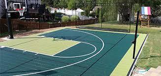 Backyard Basketball Half Court Greencourt Jpg