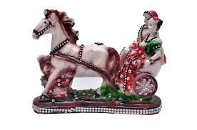 multicolour horse pair statue showpiece vastu decorative figurine