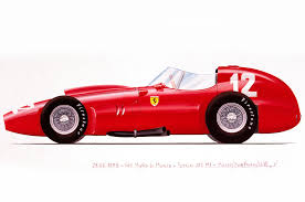 cartoon sports car side view ferrari showing 60 historic cars at rodeo drive