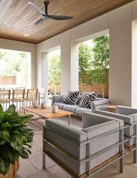 zebra print ceiling fan gray outdoor sofa with zebra pillows contemporary deck patio