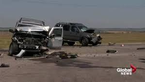 1 dead 8 injured in 4 vehicle crash near okotoks calgary