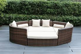 Day Bed Sofa by Beautiful Outdoor Patio Wicker Furniture Mixed Brown Deep Seating