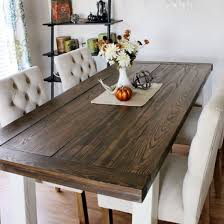 Diy Farmhouse Dining Room Table Diy Farmhouse Style Dining Table Dwellinggawker Farm Style Dining