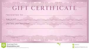 gift certificate voucher coupon template stock photos image