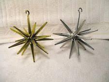 4 vintage sputnik atomic ornaments wow