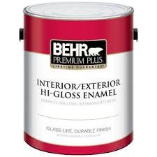 behr premium plus 1 gal ultra pure white hi gloss enamel interior