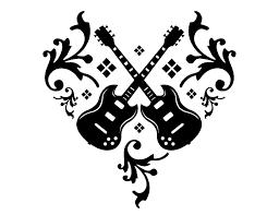 tribal guitar tattoo designs by ne14 design