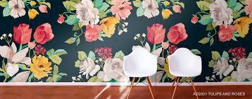 flower pattern murals