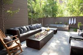 Fire Pit Outdoor Furniture by Modern Patio Long Fire Pit Outdoor Sofa With Chaise Lounge Also
