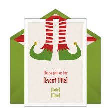 free christmas elf invitations watch elf invite friends and