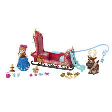 frozen power wheels sleigh amazon com disney frozen little kingdom frozen sleigh ride toys
