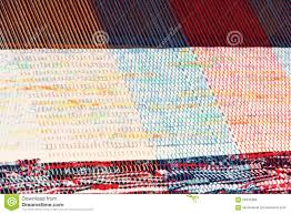 multicolored rug weaving on a loom stock photo image 56345306