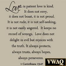 love is patient love is kind wall decal marriage bible quote