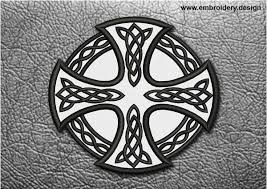 biker patch celtic cross with circle