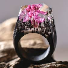 jewelry wooden rings images New miniature worlds encased into wooden rings by secret wood jpg