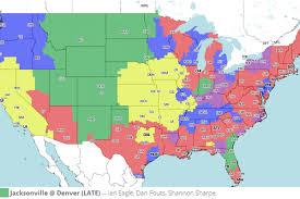 Jacksonville Map Tv Broadcast Map Jacksonville Jaguars Vs Denver Broncos Nfl