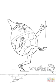 humpty dumpty coloring page free printable coloring pages
