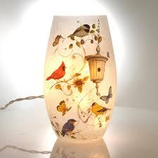 stony creek lighted glass vase birdhouse home decor sbkgifts com