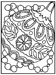 christmas ornament coloring free coloring pages
