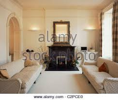 livingroom edinburgh traditional living room interior design stock photo