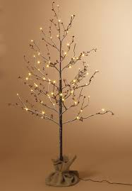 led light tree branches snow covered birch with berries led 4ft artificial trees wishing