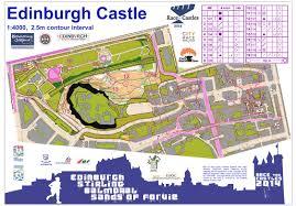 Edinburgh Map Orienteering Map Archive Race The Castles Edinburgh 11 10 2014