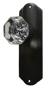 glass crystal door knobs providence crystal door knob set with art deco back plate oil