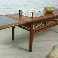 danish teak trioh extending coffee table furniture pinterest