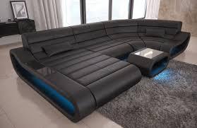 Luxury Leather Sofa Modular Leather Sofa Concept U Shape