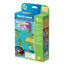 World Map North America by Leapfrog Leapreader Interactive World Map Jumbo Puzzle