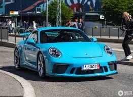 miami blue porsche porsche 991 gt3 mkii 26 juli 2017 autogespot