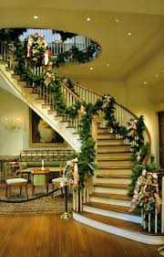 Stairs Decorations by 79 Best Christmas Stairs Images On Pinterest Christmas Ideas