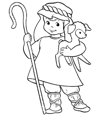 david the shepherd boy play harp colouring page david the