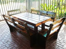 Rustic Outdoor Patio Furniture Furniture 20 Mesmerizing Images Diy Rustic Outdoor Dining Table