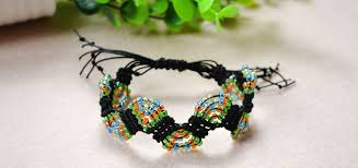 thread bead bracelet images How to make adjustable macram beaded bracelets with nylon thread jpg