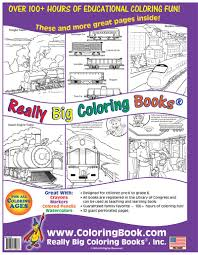 coloring books trains really big coloring book
