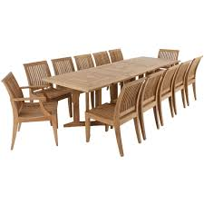 teak dining set for 12 people dining sets teak and teak outdoor
