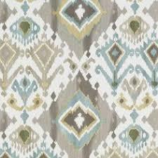 Blue Ikat Curtain Panels Drapery Upholstery Fabric Southwestern Ikat Surat 100 Cotton