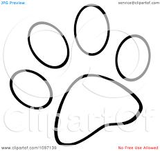 panda paw print clip art 68