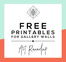 roundup free printables for gallery walls u2022 little gold pixel